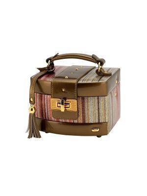 Шкатулка для украшений  Мерцание JARDIN D'ETE. Цвет: бронзовый, золотистый