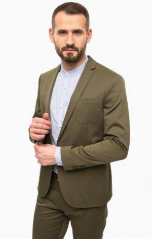 Классический пиджак цвета хаки DRYKORN. Цвет: хаки