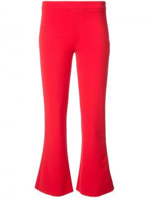 Укороченные расклешенные брюки Donna Jeffrey Dodd. Цвет: красный
