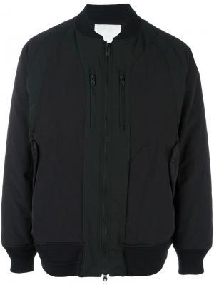 Куртка-бомбер с застежкой-молнией White Mountaineering. Цвет: чёрный