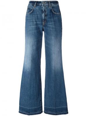 Широкие джинсы +People. Цвет: синий