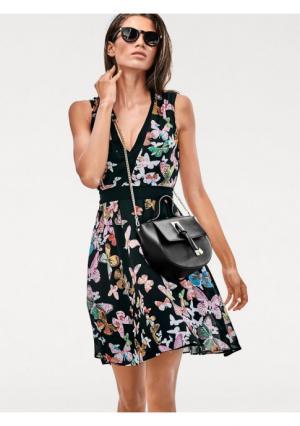Платье Ashley Brooke. Цвет: черный с рисунком