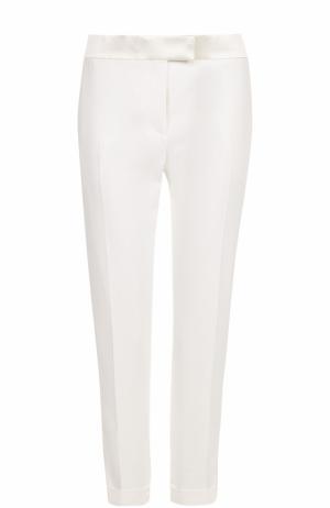 Укороченные брюки с лампасами и отворотами Tom Ford. Цвет: белый