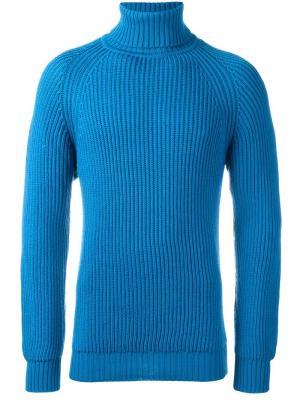 Джемпер с высокой горловиной Lc23. Цвет: синий
