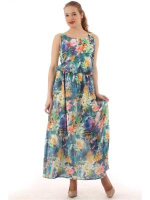 Платье длинное из креп-шифона Lamiavita