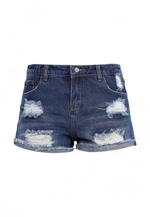 Шорты джинсовые Jennyfer. Цвет: синий