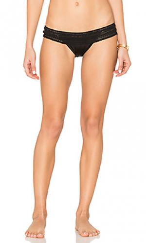 Плавки бикини с кружевами крошё lady Beach Bunny. Цвет: черный