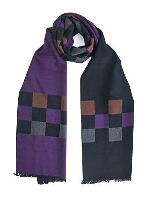 Мужской шарф LANYINGDI ША-02 30*180 100% шелк. Цвет: фиолетовый, бежевый, серый