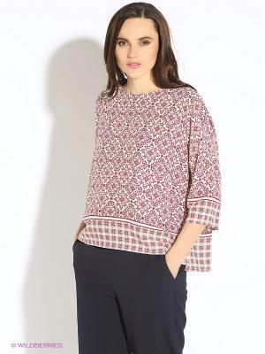 Блуза b.young. Цвет: молочный, розовый, зеленый, бордовый