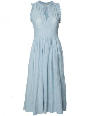 Pleated shift dress Ulla Johnson. Цвет: синий