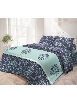 Комплект постельного белья, Инджи Волшебная ночь. Цвет: сиреневый, голубой