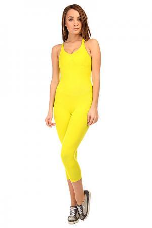 Комбинезон для фитнеса женский  New Zealand Overall Yellow CajuBrasil. Цвет: желтый