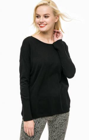 Черный джемпер из вискозы MORE &. Цвет: черный