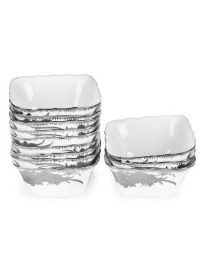 Пиала Серебро феникс Elff Ceramics. Цвет: серебристый,белый