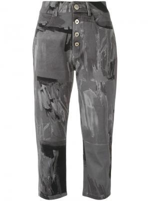 Укороченные брюки с принтом Uma | Raquel Davidowicz. Цвет: серый