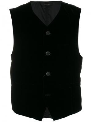 Жилетка на пуговицах Giorgio Armani. Цвет: чёрный