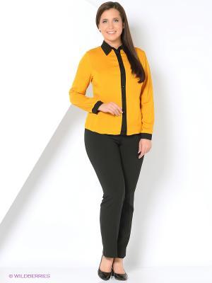 Блузка Milana Style. Цвет: горчичный