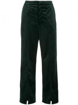 Прямые брюки En Route. Цвет: зелёный