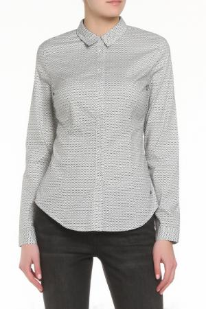 Рубашка ZERO. Цвет: черно-белый