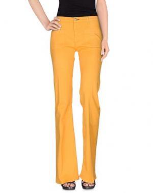 Джинсовые брюки SHINE. Цвет: оранжевый