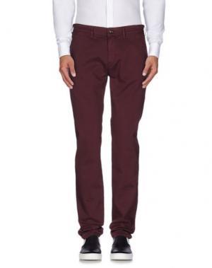 Повседневные брюки SARTORE. Цвет: баклажанный