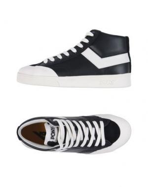 Высокие кеды и кроссовки PONY. Цвет: черный