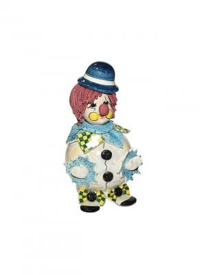 Статуэтка Клоун Zampiva. Цвет: белый, голубой, зеленый