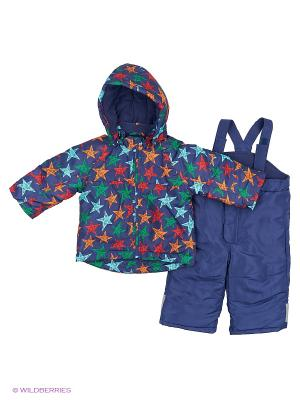 Костюм: куртка + комбинезон Modis. Цвет: синий