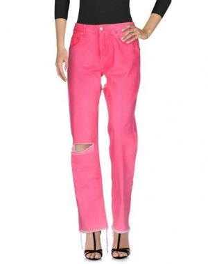 Джинсовые брюки ALYX. Цвет: фуксия
