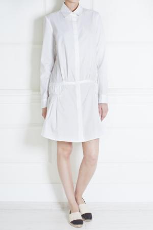 Хлопковое платье Thakoon. Цвет: белый