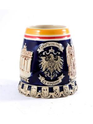 Пивная кружка коллекционная Берлин BURGER. Цвет: коричневый, оранжевый, темно-бежевый