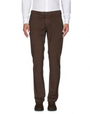 Повседневные брюки OAKS. Цвет: темно-коричневый