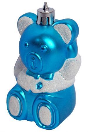 Ёлочное украшение Мишка НОВОГОДНЯЯ СКАЗКА. Цвет: голубой