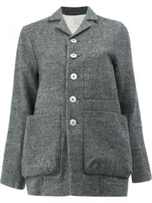 Пиджак на пуговицах Toogood. Цвет: серый