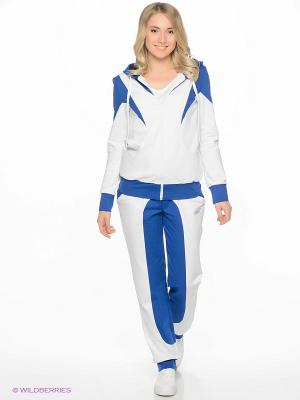 Спортивный костюм FORLIFE. Цвет: белый, синий
