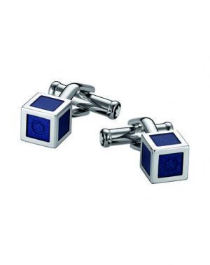 Запонки и зажимы для галстука MONTBLANC. Цвет: синий