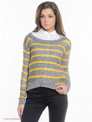 Джемпер SELA. Цвет: серый, желтый