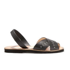 Сандалии с открытым носком из кожи AVARCA ROCK MINORQUINES. Цвет: черный