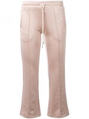 Расклешенные спортивные брюки Mm6 Maison Margiela. Цвет: телесный