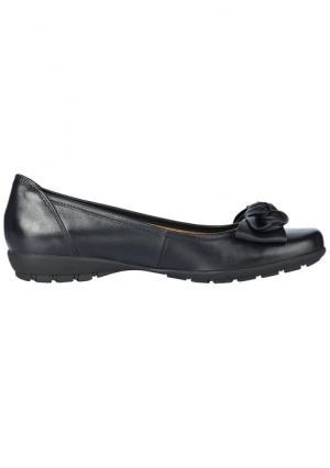 Туфли-балетки GABOR. Цвет: серо-коричневый, черный