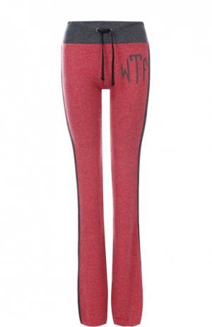 Спортивные брюки с эластичным поясом и лампасами Wildfox. Цвет: красный