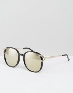 Somedays Круглые солнцезащитные очки с зеркальными линзами Lovin. Цвет: черный