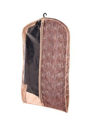Чехол объемный для одежды большой, 60х130х10см  Русский шик 1218 COFRET. Цвет: коричневый