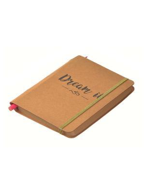 Комплект (Ежедневник+карандаш) Funky Fish. Цвет: светло-коричневый