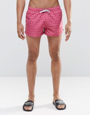 Swells Короткие шорты в горошек. Цвет: розовый