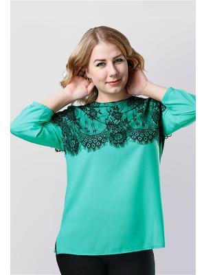 Блузка Alona. Цвет: зеленый
