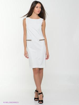 Платье PAROLE by Victoria Andreyanova. Цвет: белый