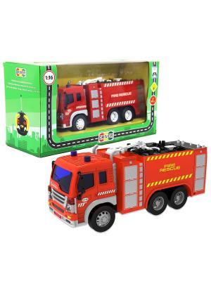 Машина р/у грузовик-пожарная автоцистерна Drift. Цвет: красный