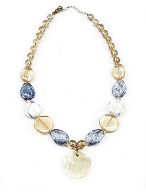 Ожерелье Bohemia Style. Цвет: бежевый