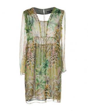 Короткое платье TARA JARMON. Цвет: зеленый-милитари